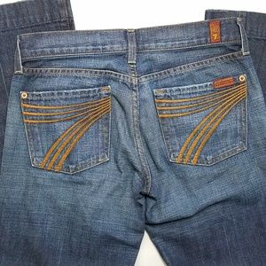 7 for All Mankind Dojo Wide Leg Jeans, Size 27